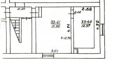 Naujininkai, 2 Kambariai Kambariai,Patalpos,Parduodama,1064